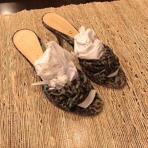 Shoes - Leopard print mules